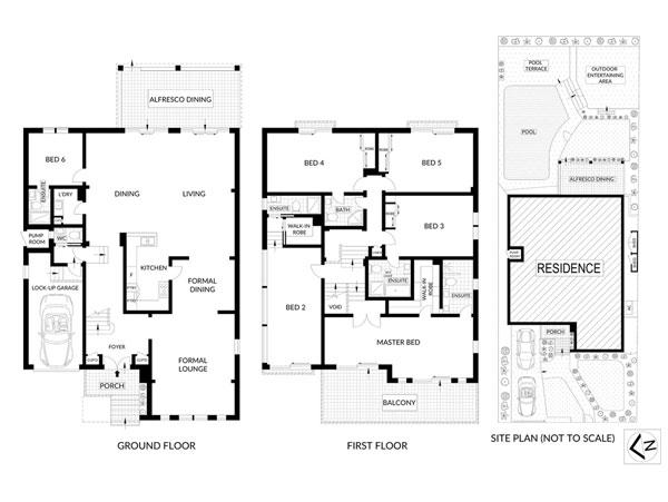 Dover Heights Renovation Floorplan